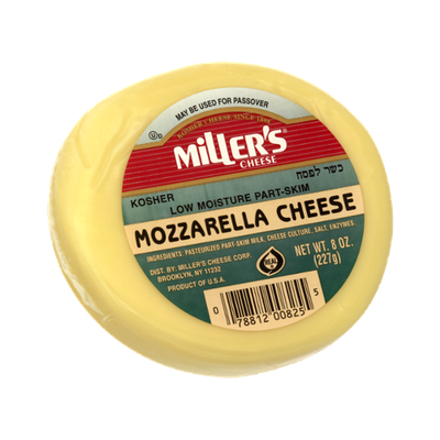 Miller's Cheese Kosher Mozzarella Cheese