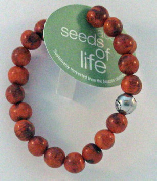 Whitney Howard Designs Seeds of Life Bracelet w Antique Silver World Bead Tiger Tangerine Whitney Howar