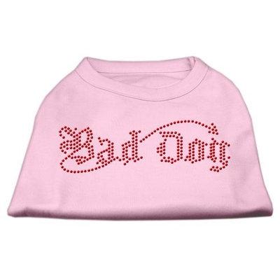 Mirage Pet Products 5207 XLLPK Bad Dog Rhinestone Shirts Light Pink XL 16