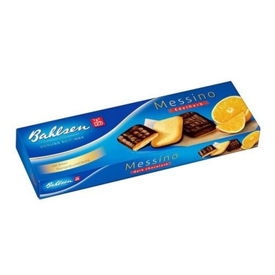 Bahlsen Orange Messino Dark Chocolate Cookies, 4.4-Ounce Boxes (Pack of 12)