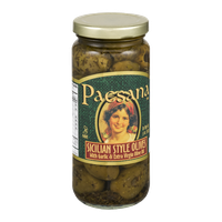 Paesana Sicilian Style Olives with Garlic & Extra Virgin Olive Oil