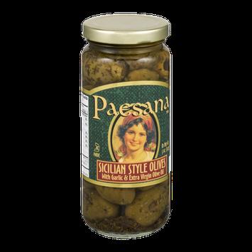 Paesana Sicilian Style Olives with Garlic & Extra Virgin Olive Oil