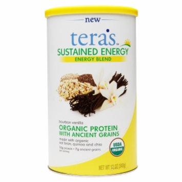 Teras Whey tera's whey Organic Sustained Energy Blend, Bourbon Vanilla, 12 oz