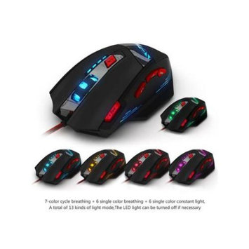 Image Zelotes T90 8 Button LED Optical USB Wired Gaming Mouse 8 Buttons with Weight Tuning Set