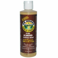 Dr. Woods Shea Vision Pure Castile Soap Almond with Organic Shea Butter 8 fl oz