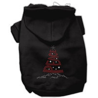 Mirage Pet Products 542509 XLBK Peace Tree Rhinestone Hoodies Black XL 16