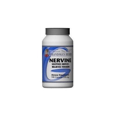 Grandma's Herbs Nervine - Herbal Remedy to Soothe Nerves & Tension - 100 Capsules