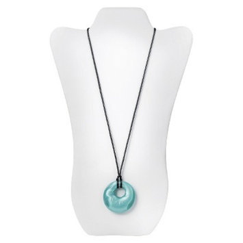 Nixi by Bumkins Gemma Silicone Pendant Teething Necklace - Aquamarine