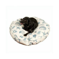 Snoozer Nautical Round Pillow Pet Bed, Small, Blue Compass
