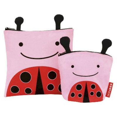 Zoo Toddler Reusable Sandwich and Snack Bag Set - Ladybug by Skip Hop
