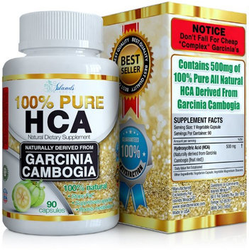 Islands Miracle PURE HCA Diet Pills (Extreme Potency) Garcinia Cambogia Extract Slim Formula Appetite Suppressant