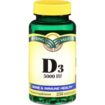 Spring Valley Vitamin D3 Supplement Softgels 5000 IU