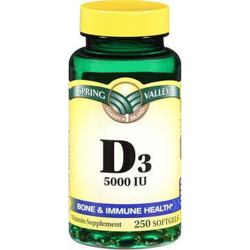 Spring Valley Vitamin D3 Supplement Softgels 5000 IU