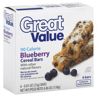 Great Value Blueberry Cereal Bars, 4.86 oz
