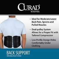 Curad Back Support with Dual-Pulley System, Small/Medium