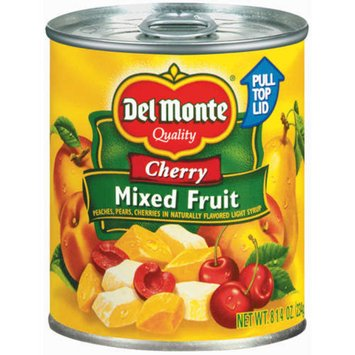Del Monte Cherry Mixed Fruit in Naturally Flavored Light Syrup - 8.25