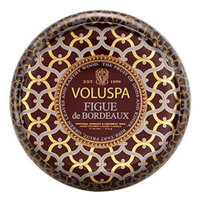Voluspa 2 wick Candle in Printed Tin, Figue de Bordeaux, 11 oz