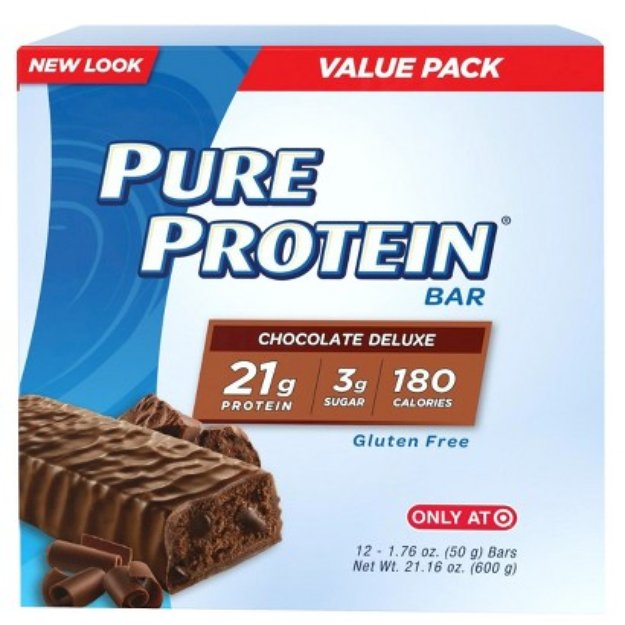 Pure Protein Chocolate Deluxe Bar - 12 Count (1.76 oz each)