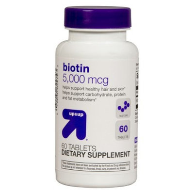 up & up up&up Biotin 5000 mcg Tablets - 60 Count