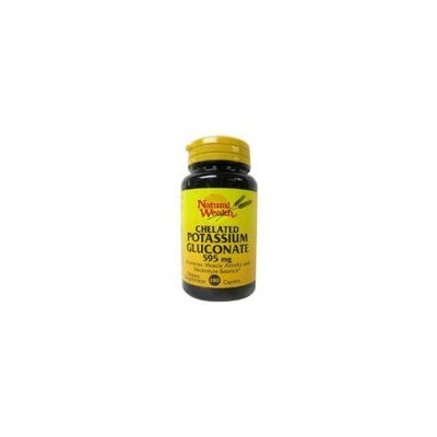Chelated Potassium Gluconate 595 Mg Caplets, By Natural Wealth - 100 Caplets