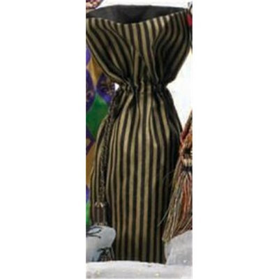 Joann Marie Designs IBT6X15GBS Printed Wine Bag - Gold And Black Stripes Pack of