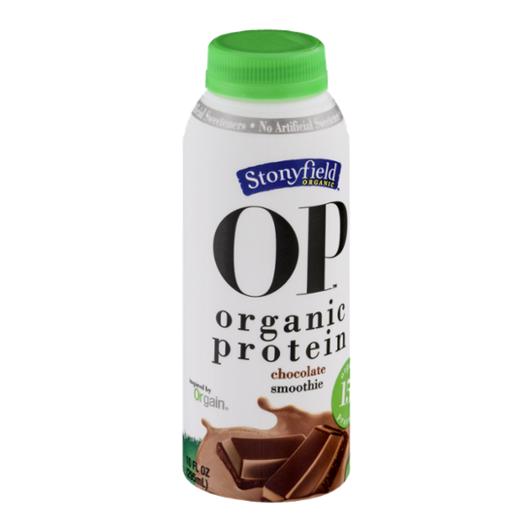 Stonyfield Organic OP Organic Protein Smoothie Chocolate