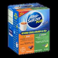 Alka-Seltzer Plus Severe Cold, Cough & Flu Day-Berry Fusion/Night-Honey Lemon Zest - 12 CT