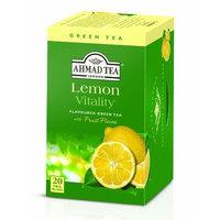 Ahmad Tea Lemon Green Tea, 20-Count Boxes (Pack of 6)