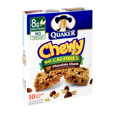 Quaker® Chewy 90 Calories, Low Fat Chocolate Chunk