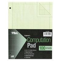 TOPS 8 1/2 x 11 Engineering Computation Pad, Quad Rule- Green (100