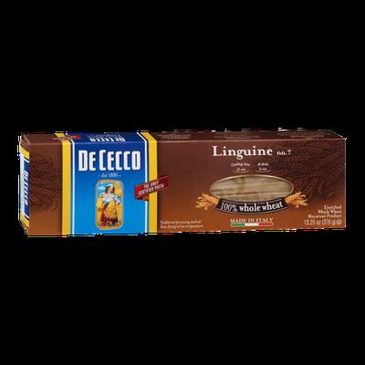 De Cecco Linguine No. 7 Pasta 100% Whole Wheat