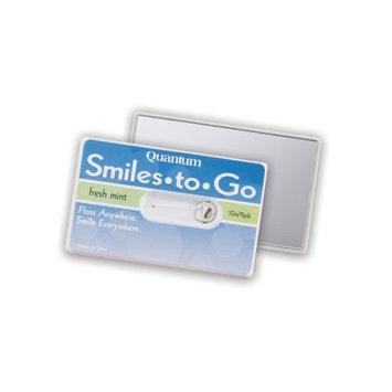 Quantum Smiles to Go Travel Dental Floss on Card