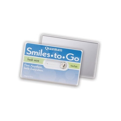 Quantum Smiles to Go Travel Dental Floss on Card