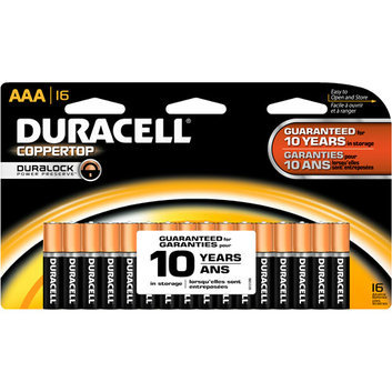 Duracell Coppertop AAA Batteries 16 Count Pack