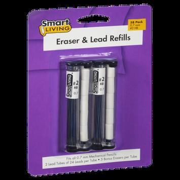 Smart Living Eraser & Lead Fills - 58 CT