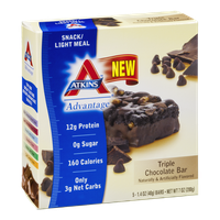 Atkins Advantage Triple Chocolate Bar - 5 CT
