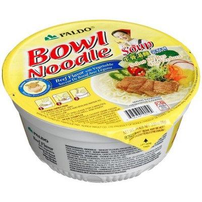 Paldo Bowl Noodle Soup Beef Flavor, 3.03-Ounce Cups (Pack of 12)