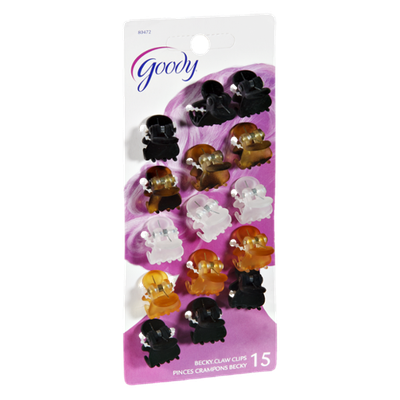 Goody Becky Claw Clips - 15 CT
