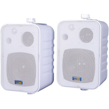 Tic Corporation TIC CORPORATION ASP25-W Indoor/Outdoor 3-Way 50-Watt Speakers White