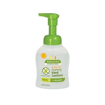 BabyGanics Alchohol Free Foaming Hand Sanitizer, Green Apple, 8.45 Fluid Ounce, Packaging May Vary