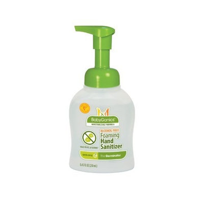BabyGanics Alchohol Free Foaming Hand Sanitizer, Green Apple, 8.45 Fluid Ounce, Packaging May Vary