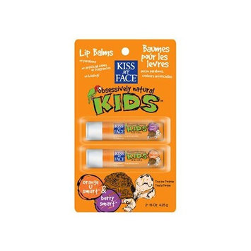 Kids Lip Balm Dual Pack Orange & Berry Kiss My Face .15 oz/2pc Balm