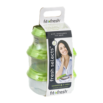 Fit Fresh Fresh Selects Sandwich & 2 Sides Modular Lunch System - 7 Piece
