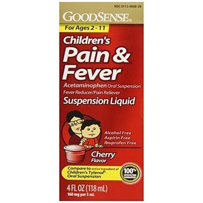 Good Sense GoodSense Acetaminophen Children's Pain Reliever Oral Suspension Liquid, Cherry Flavor, 160 mg, 4 Fluid Ounce