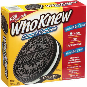 WhoKnew Smart Cookies Chocolate Sandwich Cookies