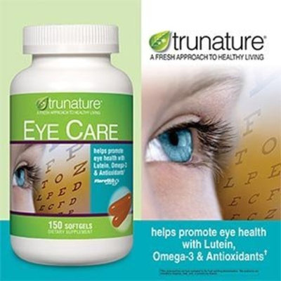 TruNature Eye Care Formula with Lutein, Omega-3 & Antioxidants - 150 Softgels