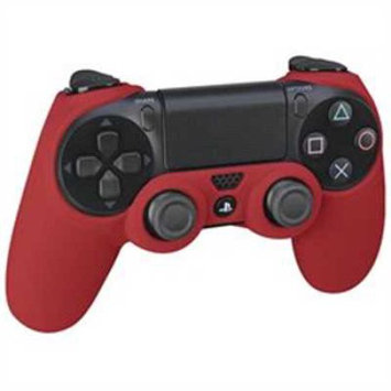 Rds Industries Action Grip Sleeve Dualshock 4 Wireless Controller for Sony PS4 - Red