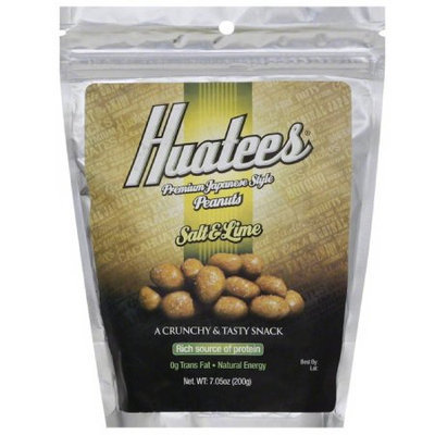 Huatees Salt & Lime Peanuts, 7.05 oz (Pack of 6)