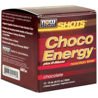 Now Foods Shots, Choco Energy, Chocolate, 0.5 Ounce, 12 Count Box