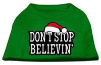 Ahi Don't Stop Believin' Screenprint Shirts Emerald Green XL (16)
